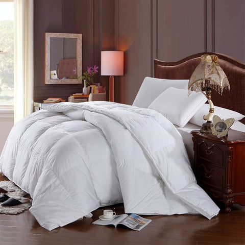 Hungarian Goose Down Comforter 100% Cotton 500-Thread-Count Duvet Insert