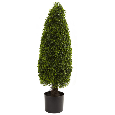 3' Boxwood Tower Topiary UV Resistant (Indoor/Outdoor)