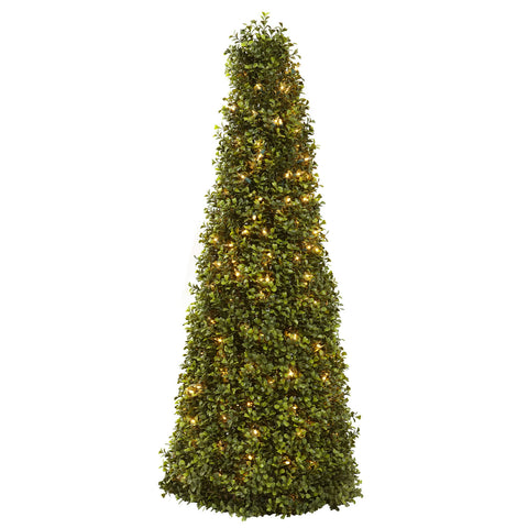 "39"" Boxwood Cone w/Lights"