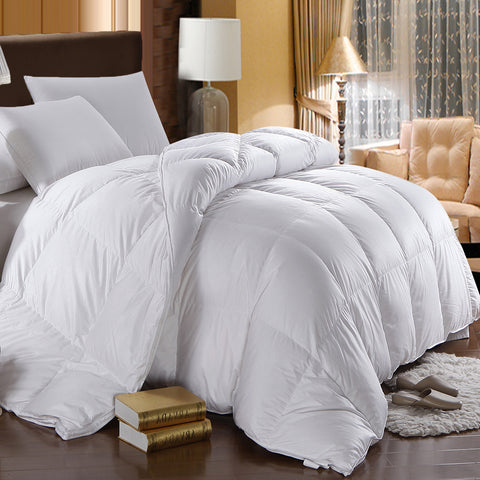Winter Weight White Goose Down Comforter 500TC