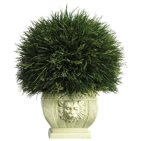 Potted Grass w/White Vase (Indoor/Outdoor)