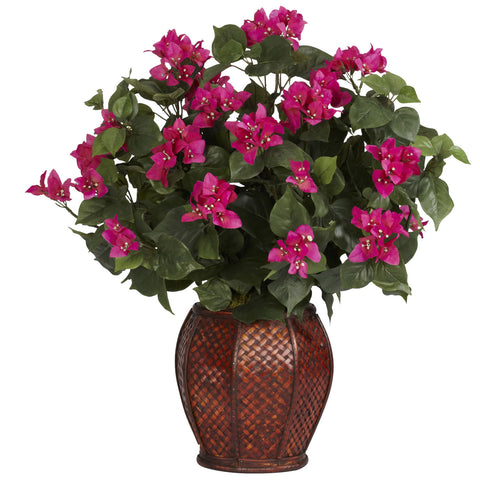 Beauty Bougainvillea w/Vase Silk Plant