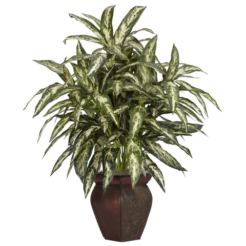 Aglaonema w/Decorative Vase Silk Plant