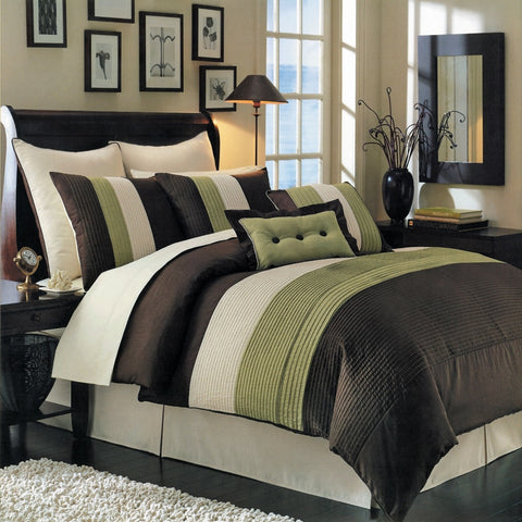 California king SAGE Hudson 8 PC Luxury Comforter Set