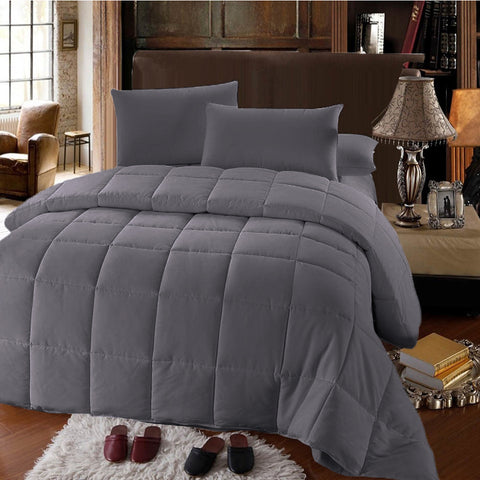 Gray 100% Down Alternative Comforter medium warmth Micro Duvet insertGray 100% Down Alternative Comforter medium warmth Micro Duvet insert