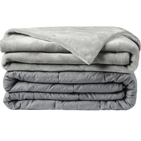 Abripedic Weighted Blanket Breathable Cotton with Removable Velvet Cover Included