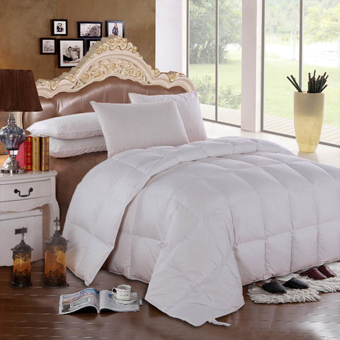 Full/Queen Royal Hotel Solid Goose Down Comforter (Four Season Fill )