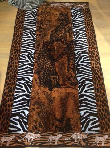 """Safari"" 40x70 Egyptian Cotton Beach Towel Scotts-sales.com"