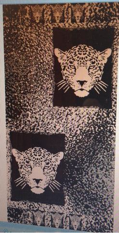 """Tiger"" 40x70 Egyptian cotton Beach Towel Scotts-sales.com"