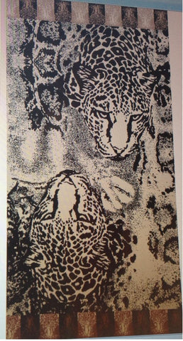 """Wild Tiger"" 40x70 Egyptian Cotton Beach Towel Scotts-sales.com"