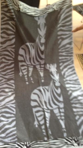 """Zebra"" 40x70 Egyptian Cotton Beach Towel Scotts-sales.com"