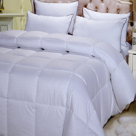 Dobby Down Alternative Comforter Egyptian Cotton 300 Thread Count Overfilled