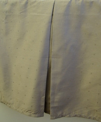 Tailored bedskirt 300 Thread count Solid woven dots Egyptian cotton