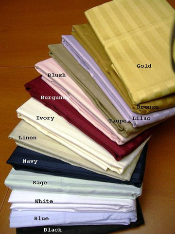 King /Calking Stripe Pillow Cases 300 Thread Count 100% Egyptian cotton