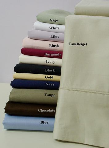 QUEEN/STANDARD Solid 300 Thread count Egyptian cotton pair of Pillow Cases