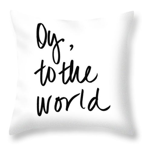 Oy To The World Throw Pillow
