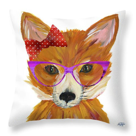 Very Foxy Throw Pillow