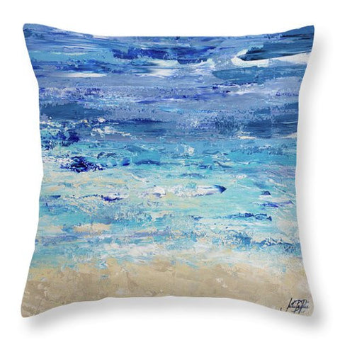 Oceans In Abstract Throw Pillow