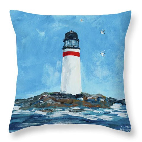 The Lighthouses I Throw Pillow