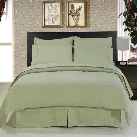 King/Calking SAGE Microfiber Solid 3-Piece Duvet cover set