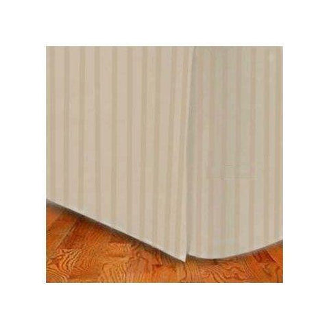 Queen size Microfiber Stripe Bed Skirt