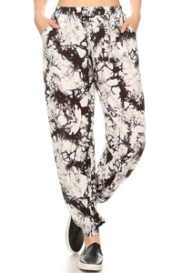 BLACK MARBLE HAREM - ShesGotLeggings