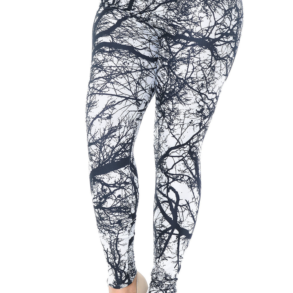 NEGATIVE TREE GRAPHIC LEGGINGS