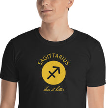 Load image into Gallery viewer, Sagittarius does it better Astrology T-shirt