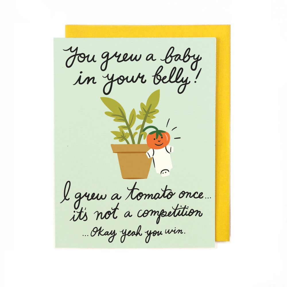 You Grew A Baby in Your Belly Baby Card from Diament Jewelry, a gift shop in Washington, DC.