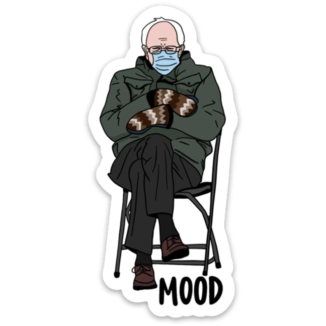 Bernie Sanders Mood Sticker from Diament Jewelry, a gift shop in Washington, DC.