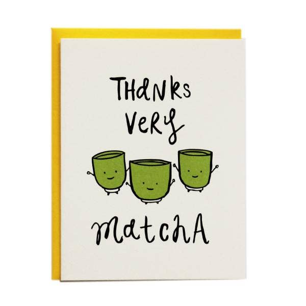 Thanks Very Matcha Card from Diament Jewelry, a gift shop in Washington, DC.