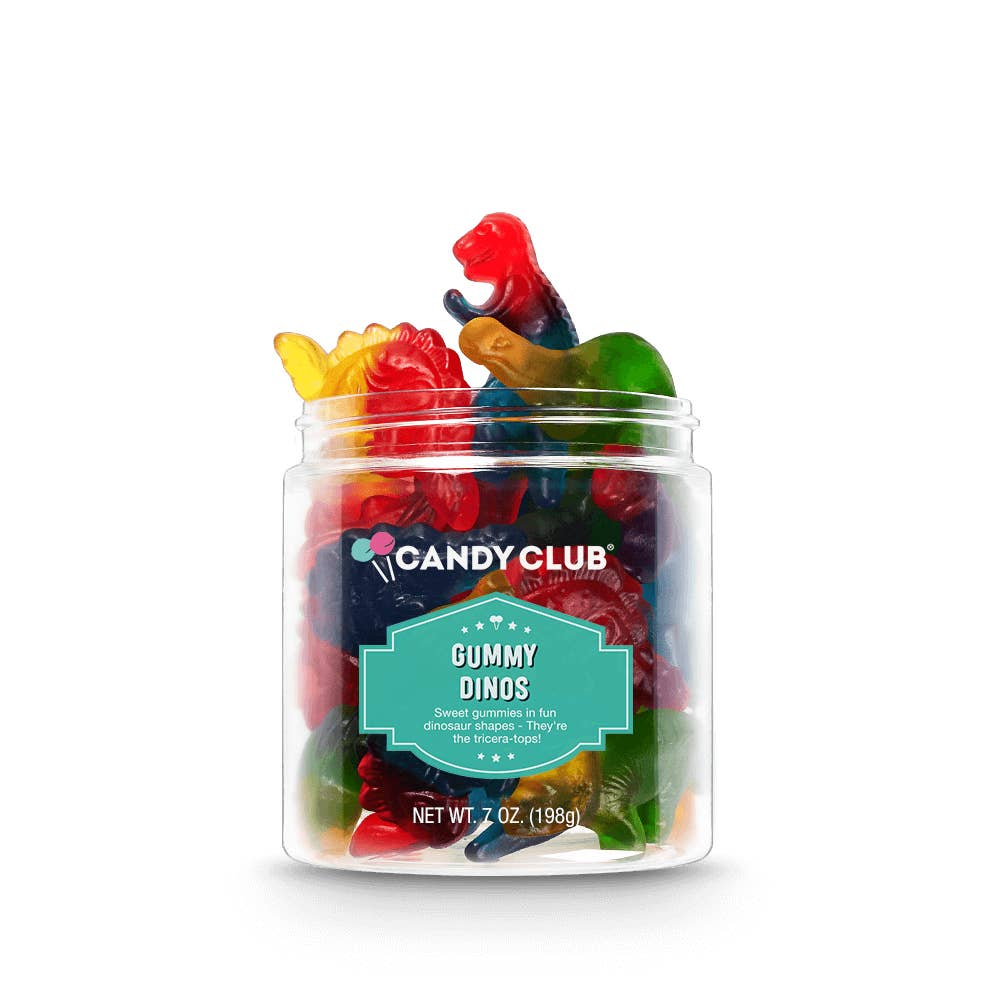 Candy Club Gummy Dinos from Diament Jewelry, a gift shop in Washington, DC.