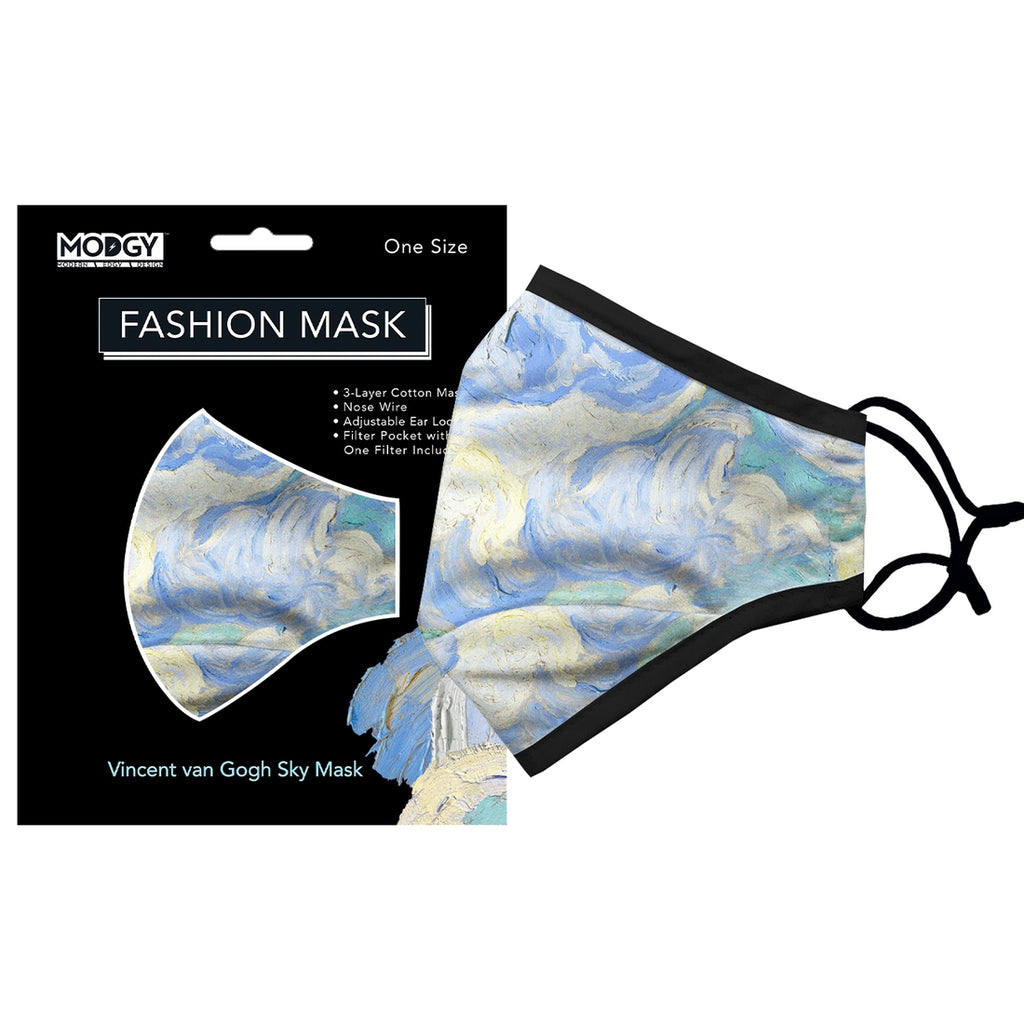 Modgy Van Gogh Sky protective face mask from Diament Jewelry, a gift shop in Washington, DC.