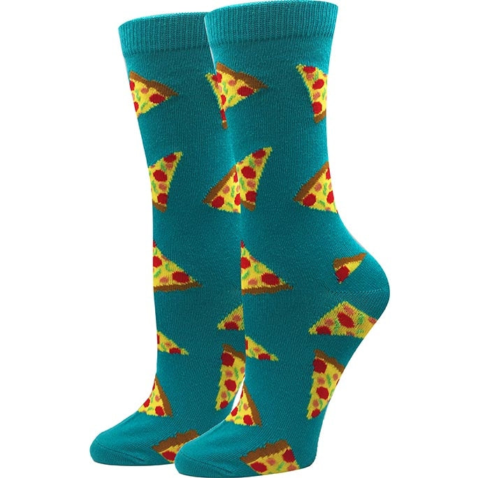 Pizza Womens Socks from Diament Jewelry, a gift shop in Washington, DC.