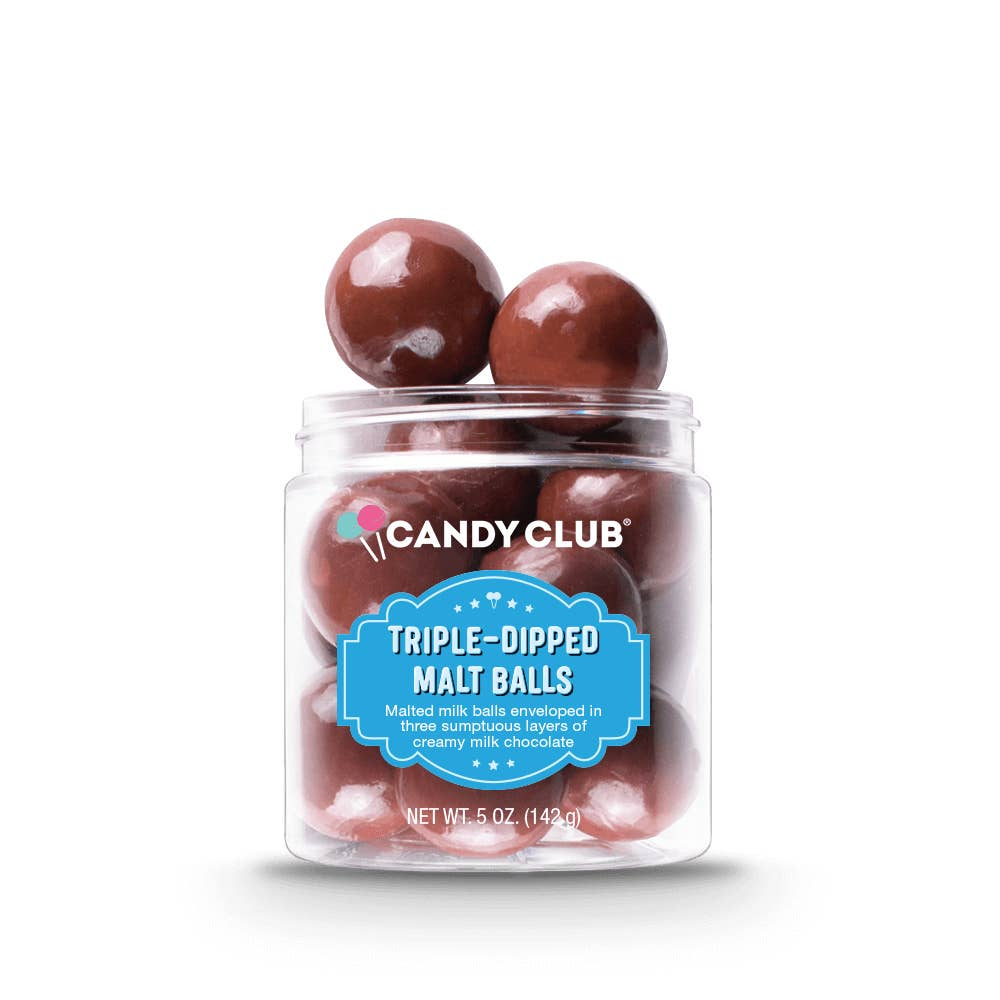 Candy Club Triple Dipped Malt Balls from Diament Jewelry, a gift shop in Washington, DC.