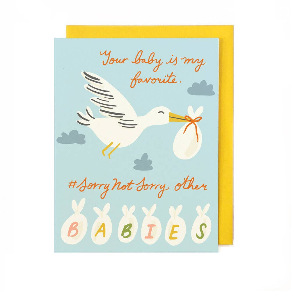 Your Baby is My Favorite Baby Card from Diament Jewelry, a gift shop in Washington, DC.