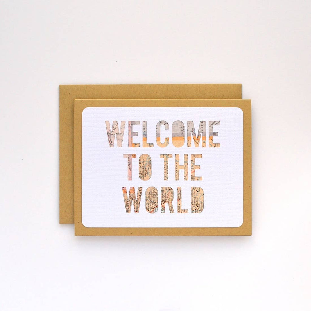 Welcome to the World Baby Card from Diament Jewelry, a gift shop in Washington, DC.