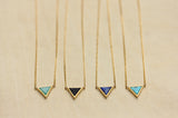 Gemstone Triangle Necklace