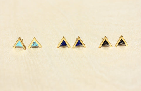 Gemstone Split Studs Arrow
