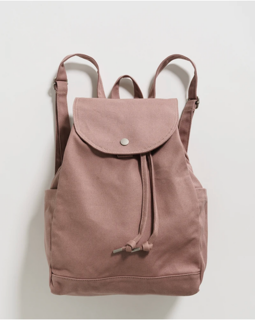 Baggu Smoky Quartz Drawstring Canvas Backpack from Diament Jewelry, a gift shop in Washington, DC.