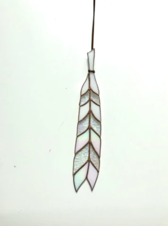 Colin Adrian Glass Chevron Feather from Diament Jewelry, a gift shop in Washington, DC.