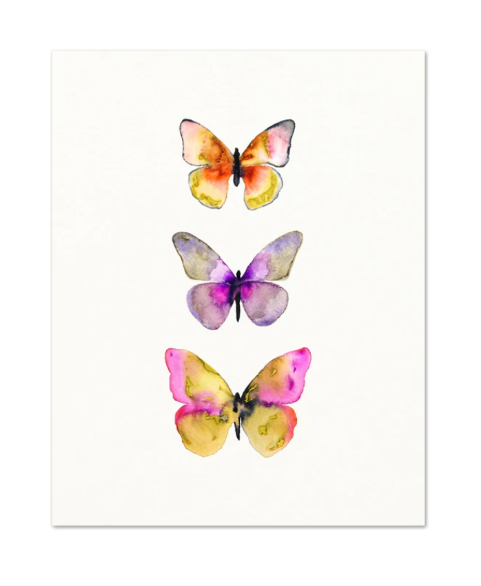 Snoogs and Wild 3 Butterflies No. 5 Art Print from Diament Jewelry, a gift shop in Washington, DC.
