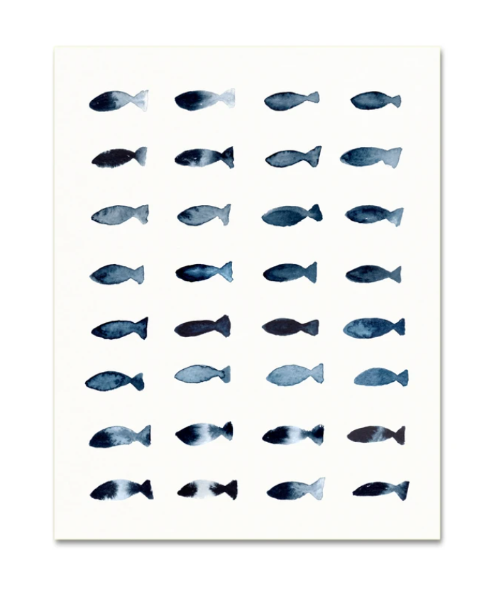 Snoogs and Wilde Indigo Fish Art Print from Diament Jewelry, a gift shop in Washington, DC.