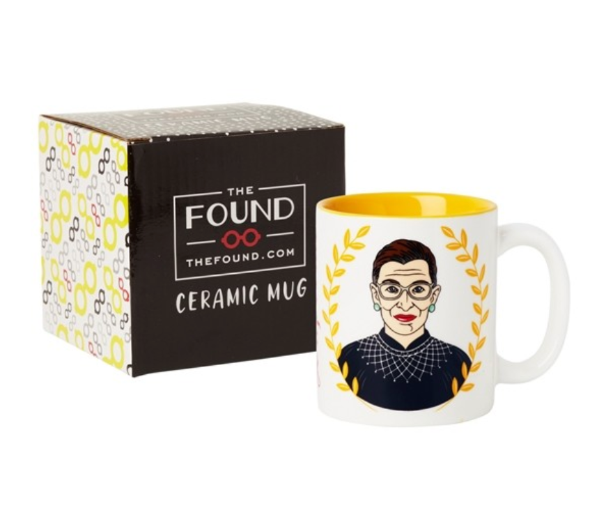 The Found Ceramic RBG Mug from Diament Jewelry, a gift shop in Washington, DC.