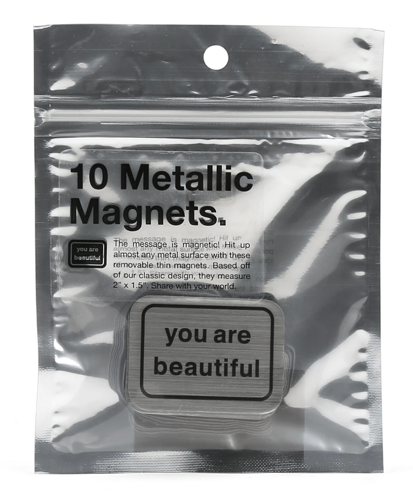 You Are Beautiful 10 Magnet Pack from Diament Jewelry, a gift shop in Washington, DC.