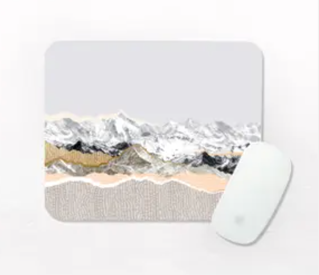 One Sweet Orange Beige Mountains Rectangular Mouse Pad from Diament Jewelry, a gift shop in Washington, DC.