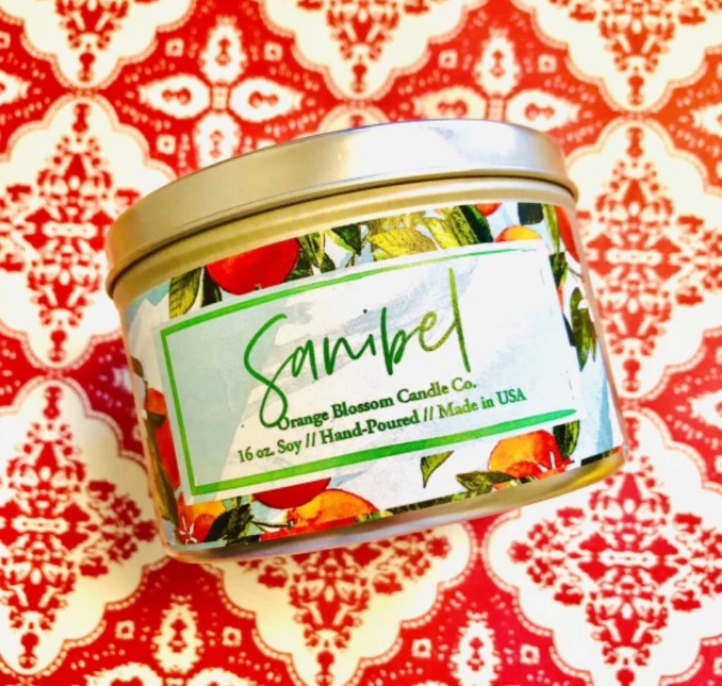 Sanibel Scented Candle in Tin from Diament Jewelry, a gift shop in Washington, DC.
