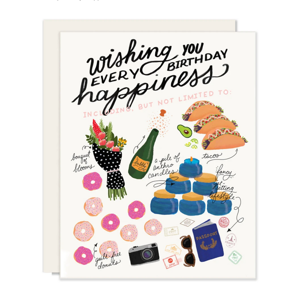Wishing You Every Birthday Happiness Card from Diament Jewelry, a gift shop in Washington, DC.