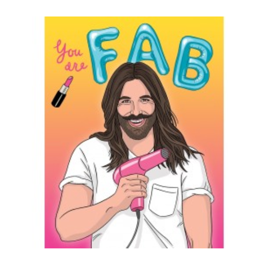 You Are Fab JVN Birthday Card from Diament Jewelry, a gift shop in Washington, DC.