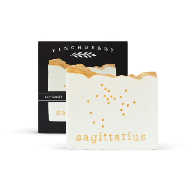 Finchberry Sagittarius Soap from Diament Jewelry, a gift shop in Washington, DC.